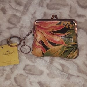 PATRICIA NASH LEATHER COIN PURSE /KEY FOB, NWTS